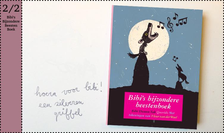 Bibi's Bijzondere Beestenboek Fleur van der Weel zilveren griffel dieren beesten boek