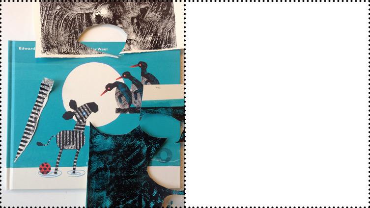 Fleur van der Weel Hallo Prentenboek Kinderboekenweek Edward van de Vendel illustratie kinderboek techniek cover collage