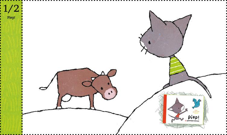 Piep! Allemaal dieren Fleur van der weel kartonboek dreumes peuter baby Querido